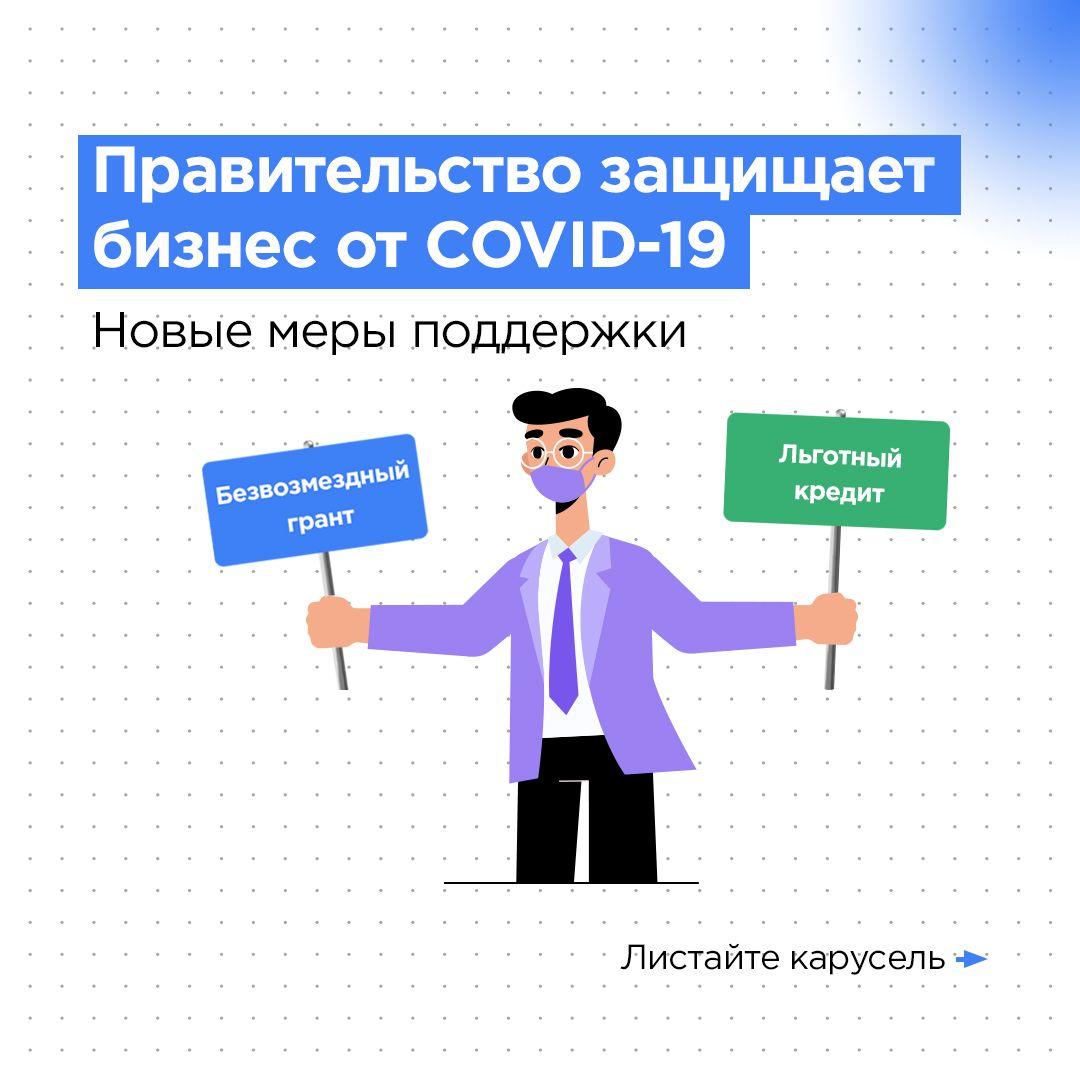 Информация о действующих возможностях поддержки предпринимателей в формате иллюстраций.